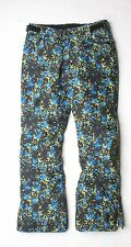 686 Girls Meadow Snowboard Pant (M) Blue Floral