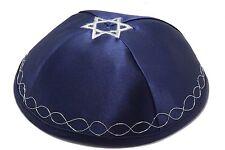Blue Star Of Magen David Satin Kippah Yarmulke Jewish Yamaka Kippa Skullcap