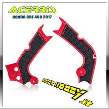 PROTEZIONE TELAIO ACERBIS X-GRIP HONDA CRF 250R 18/19 CRF 450R 17/18 ROSSO NERO
