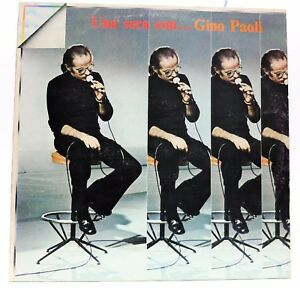 """Vinyl Records Music Italia A Evening With Gino Paoli 33 RPM 12 """" LP Orl 8464"""