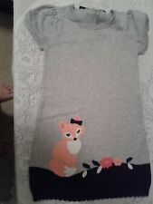 NWT GYMBOREE FAIRY TALE FOREST GRAY FOX SWEATER DRESS SIZE 5T