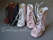 【Tii】1/4 BJD doll lolita bow boots shoes MSD Super Dollfie mini fee AF DK Luts