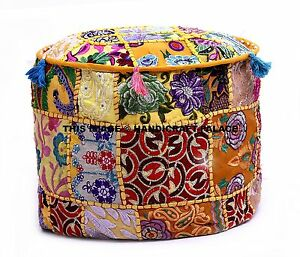 Bohemian Pouf Ottoman stool floor pillow chair pouffe pouffes Indien pillow pouf