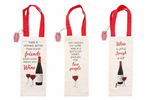 Jute Canvas Cloth Bottle Bag Gift Present Bags * A Choice of 3 Designs