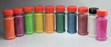 Pack of 10 Assorted Rangoli Colours Powder/Sand - 175g In Each Plastic Bottle