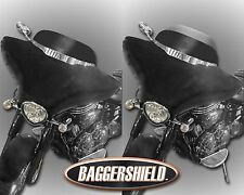 "Yamaha Star Stratoliner Deluxe Adjustable Baggershield Windshield 7""-10"""