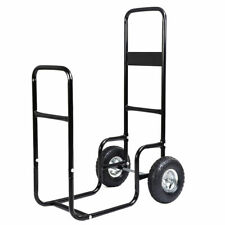 New Firewood Carrier Wood Mover Hauler Fire Rack Caddy Cart Dolly Rolling