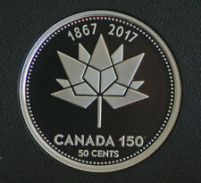2017 Canada 50 cent Canada 150 logo proof finish -- from Canada 150 set
