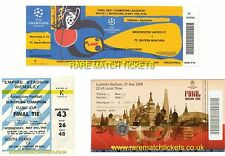 reproduction MANCHESTER UTD 1968 1999 2008 champions league final tickets [RMT]
