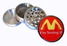 "I'm loving it McDonald's 4 Piece Kitchen Grinder Spice Herb Crusher 2.25"" Funny"