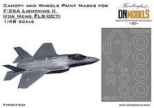 Canopy & Wheels Paint Masks for MENG Model kits F-35A Lightning 2 1/48 DN Models