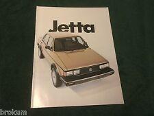 """MINT 1982 VW VOLKSWAGEN JETTA 16 PAGE 8-1/2"""" X 11"""" SALES BROCHURE (BOX 778)"""