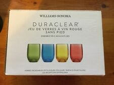 Williams-Sonoma 4 DuraClear Polycarbonate Outdoor 14 oz Stemless Wine Glass Set