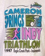 vtg 90s retro 1997 Cameron Springs Indy Triathlon T-Shirt Indianapolis IN sz XL