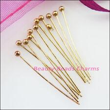 15mm 20mm 25mm 30mm Ball Head Pins 25g Dull Dull Silver Champagne Gold