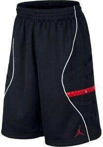 Nike Air Jordan 11 XI Basketball Shorts Black Red Bred 632075 014 Large Lrg NEW