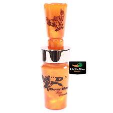 Tim Grounds D Overhauler Single Reed Duck Call Tennessee Crush Orange Acrylic