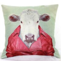 Home Decor Office Cotton Linen Cow Red Man Cushion Cover Pillow Sofa 45cm