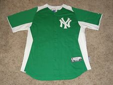 New York Yankees St Patrick's Day Authentic Majestic Cool Base MLB Jersey XL New