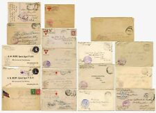 WW1 American Expeditionary Force Censors covers AEF.  PRICED INDIVIDUALLY