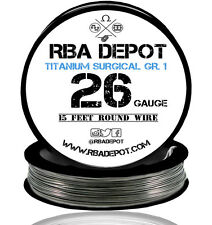 RBA Depot Titanium Surgical Gr.1 Competition Resistance Wire 26 Gauge AWG 15 ft