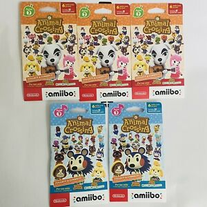 NEW Animal Crossing Amiibo Card Pack Series 2 And 3 (5 packs of 6 cards = 30)