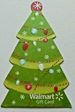 Walmart Gift Card - Die-Cut Christmas Tree - No Value - I Combine Shipping