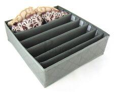 Periea 7 ranuras de almacenamiento Organizador de cajón de armario de caja grande de solución calcetines lazos