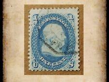 US Scott 63 Franklin 1 Cent 1c Single Stamp Used