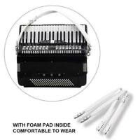 1 Pair Adjustable PU Leather Shoulder Straps for 16-120 Bass Accordions White