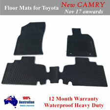 All Weather Heavy Duty Rubber Car FLOOR MATS FOR TOYOTA Camry 2018 - 2020 Grey