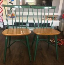 Kandya  1960s Teak Kitchen / Dining Chairs By Frank Guille (pair)