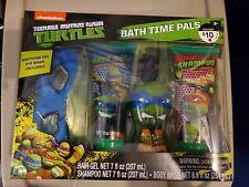Teenage Mutant Ninja Turtles Tmnt Bath Time Pals Kit Set Boys Gift Nib