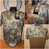 NWT $40 Mens HUK Kryptek ICON FISHING Short Sleeve Tee T-Shirt Camo Size Small S
