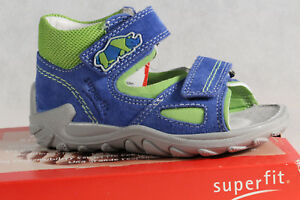 Superfit Ll Sandals Blue/Green Kv Leather Footbed New