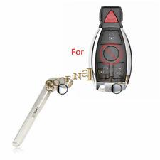 New Smart Remote Key Keyless Emergency Prox Uncut Blade Blank For Mercedes Benz