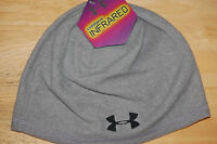 under armour mens coldgear infrared beanie hat grey steel osfa retail 28 BLOWOUT