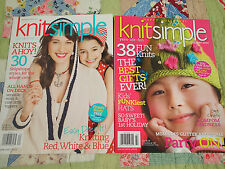 KnitSimple Holiday 2014, Spring/Summer 2011   Lot of 2! - Knitting  Magazines!