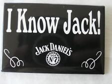 NEW OLD STOCK  JACK DANIELS 'I KNOW JACK' PIN; HAS  OLDER SPOKE WHEEL LOGO