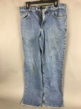 Eddie Bauer Relaxed Blue Jeans 33 x 32 Light Stains and Pocket Tear