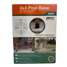 Ozco Building Products 4x4 Square Post Base 56607 (4x4-Pb-Ls) Laredo Sunset