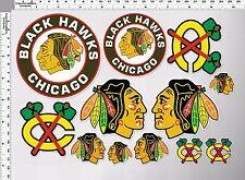 1set chicago blackhawks tomahawk hockey decal sticker print self die-cut vinyl