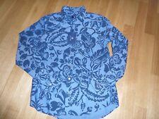 GANT Damen Bluse klassisch blau dunkelblau floral 36