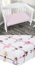 Everyday Kids 2 Pack Fitted Girls Crib Sheet, 100% Soft Microfiber, Breathable x
