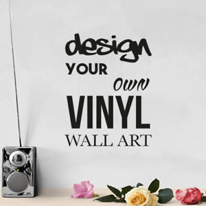 Design Your Own Personalised Custom Vinyl Decal - Wall Art Card Making Scrapbook