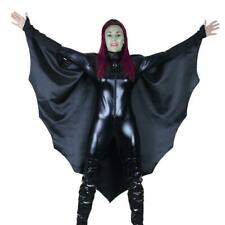Halloween Vampire Bat Wings Costume Black Cape Ladies Fancy Dress Costume