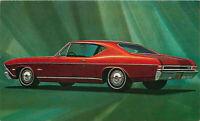 Advertising Postcard 1968 Chevrolet Chevelle Malibu Sport Coupe