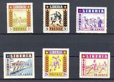 LIBERIA SPORT 6 STAMPS   **  MNH  PF  VF