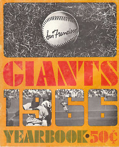 1966 SAN FRANCISCO GIANTS YEARBOOK MLB MAYS