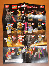 LEGO 8833 MINIFIGURE Series 8 INSTRUCTION CHECKLIST Mini-Insert Poster Only
